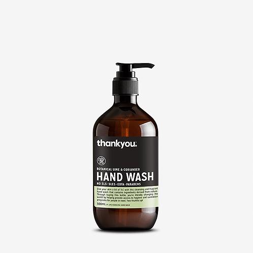 thankyou - Hand Wash -  Botanical Lime & Coriander (500ml)
