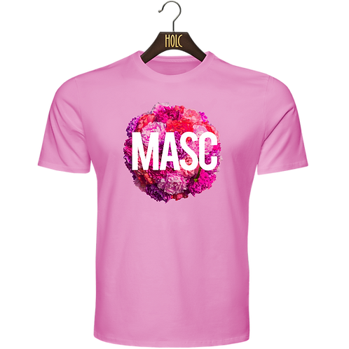 Masc Floral t shirt pink