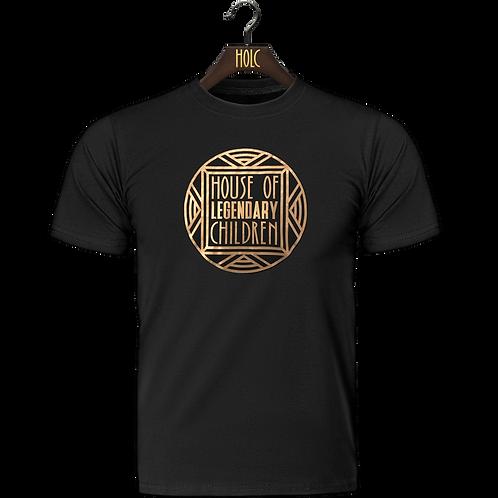 House of legendary children t shirt black gold foil print