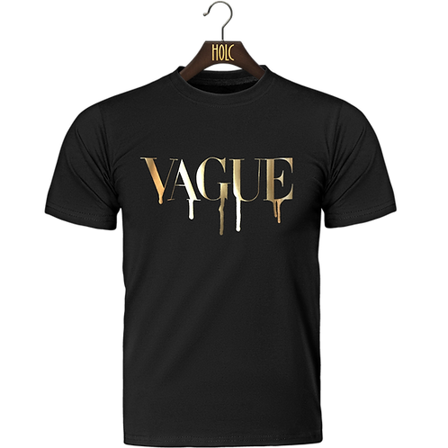 Vague foil print t shirt