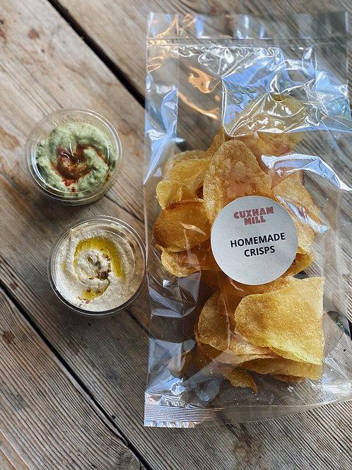 Homemade Potato Crisps & Dips