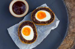 Black Pudding Scotch Egg