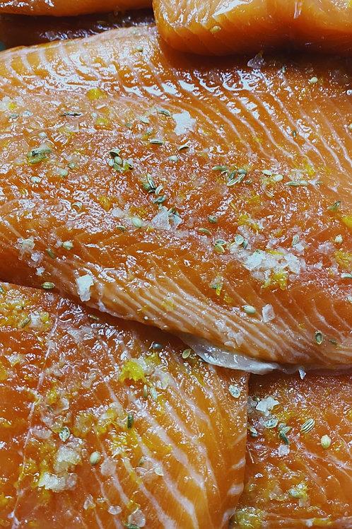 Dill & Mustard Cured Salmon