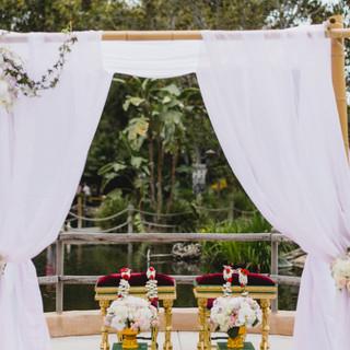 Thai Ceremoni spoecial arranegements with floral neck garlands