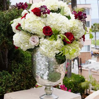 Ceremony vase with flowers