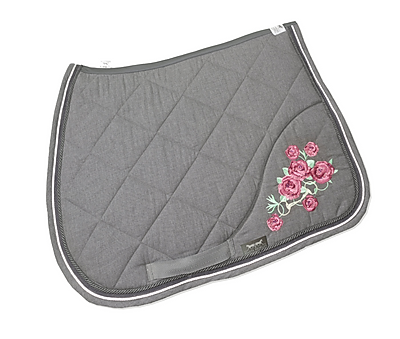 saddlecloth-flowers-grey