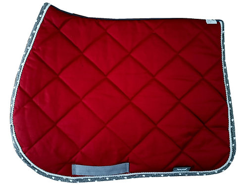Sottosella a Rombi Bordeaux / Rhombus Quilted Saddlecloth in Bordeaux