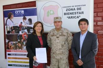 Convenio de colaboración entre Zona de Bienestar Arica y el CFT