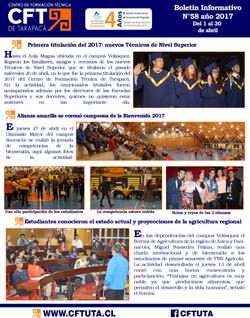 Boletín N°58 CFT de Tarapacá