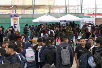 CFT dijo presente en la 3ra plaza vocacional del liceo Santa María