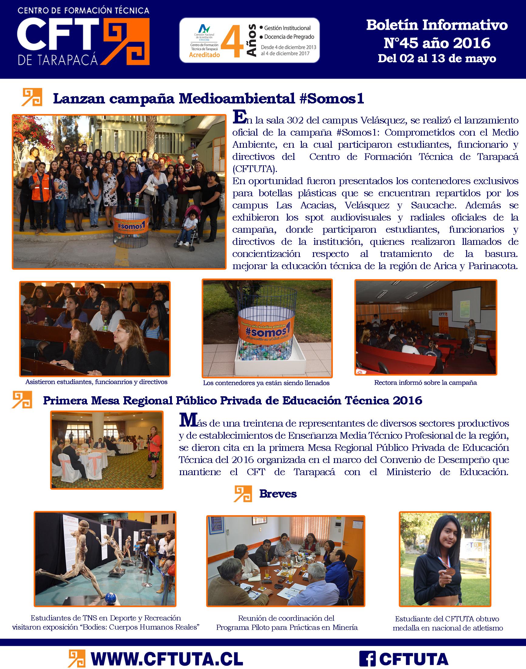 Boletín N°45 CFT de Tarapacá