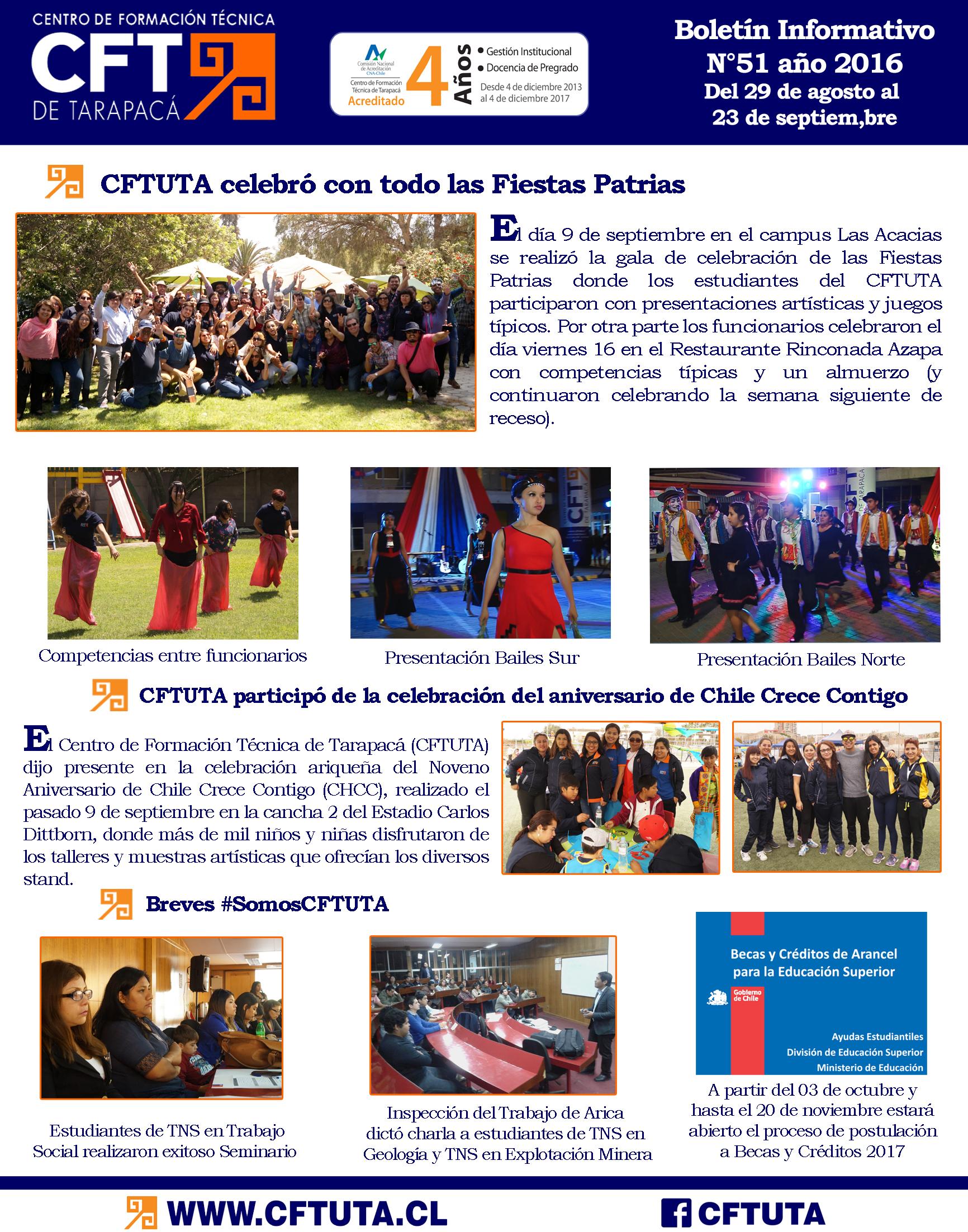Boletín N°51 CFT de Tarapacá