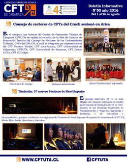 Boletín N°50 CFT de Tarapacá