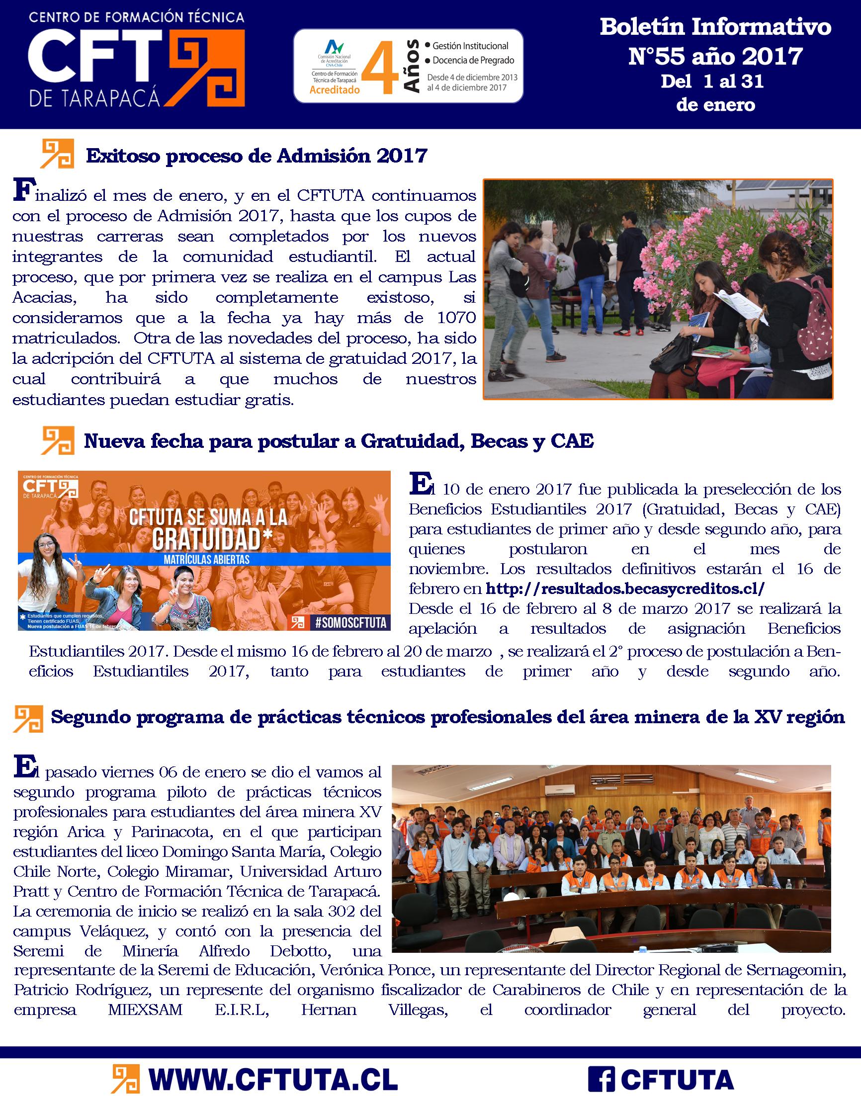 Boletín N°55 CFT de Tarapacá