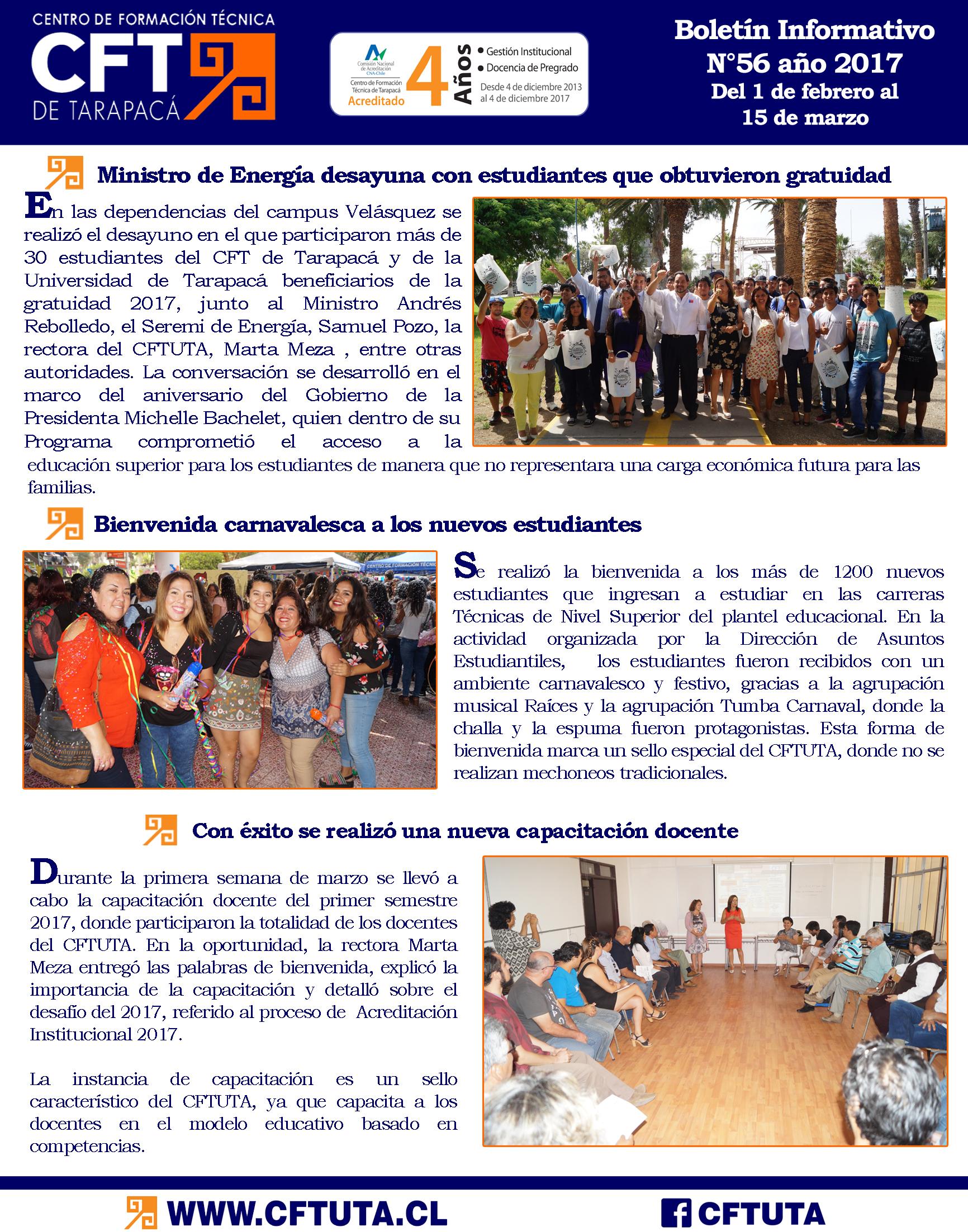 Boletín N°56 CFT de Tarapacá