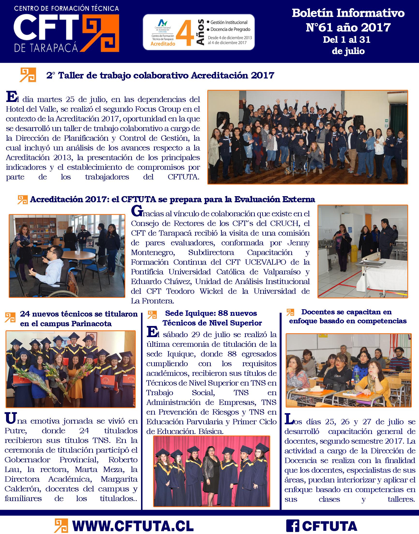 Boletín N°61 CFT de Tarapacá
