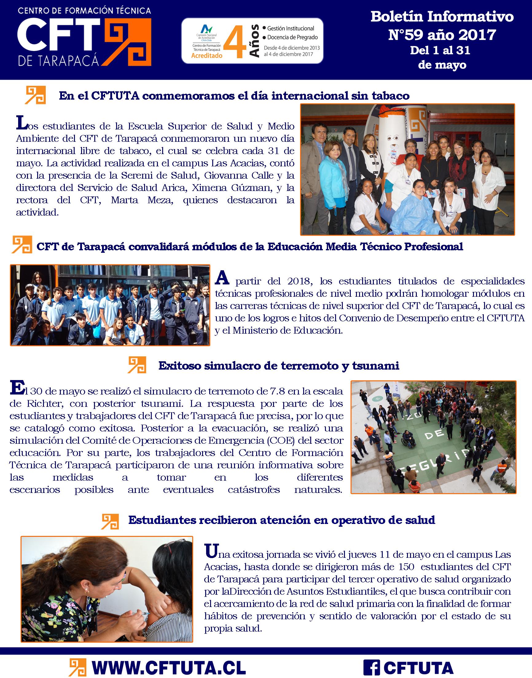 Boletín N°59 CFT de Tarapacá