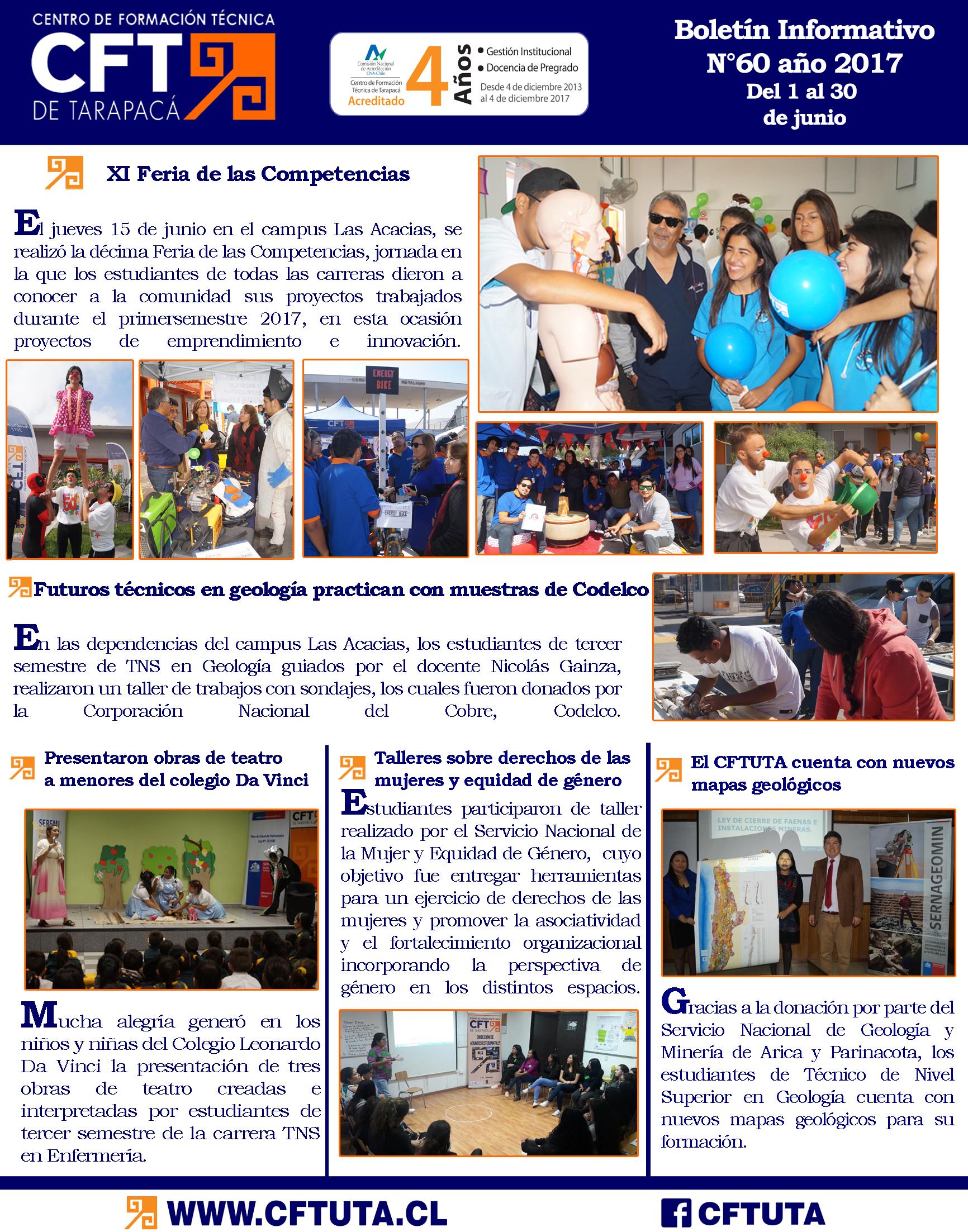Boletín N°60 CFT de Tarapacá