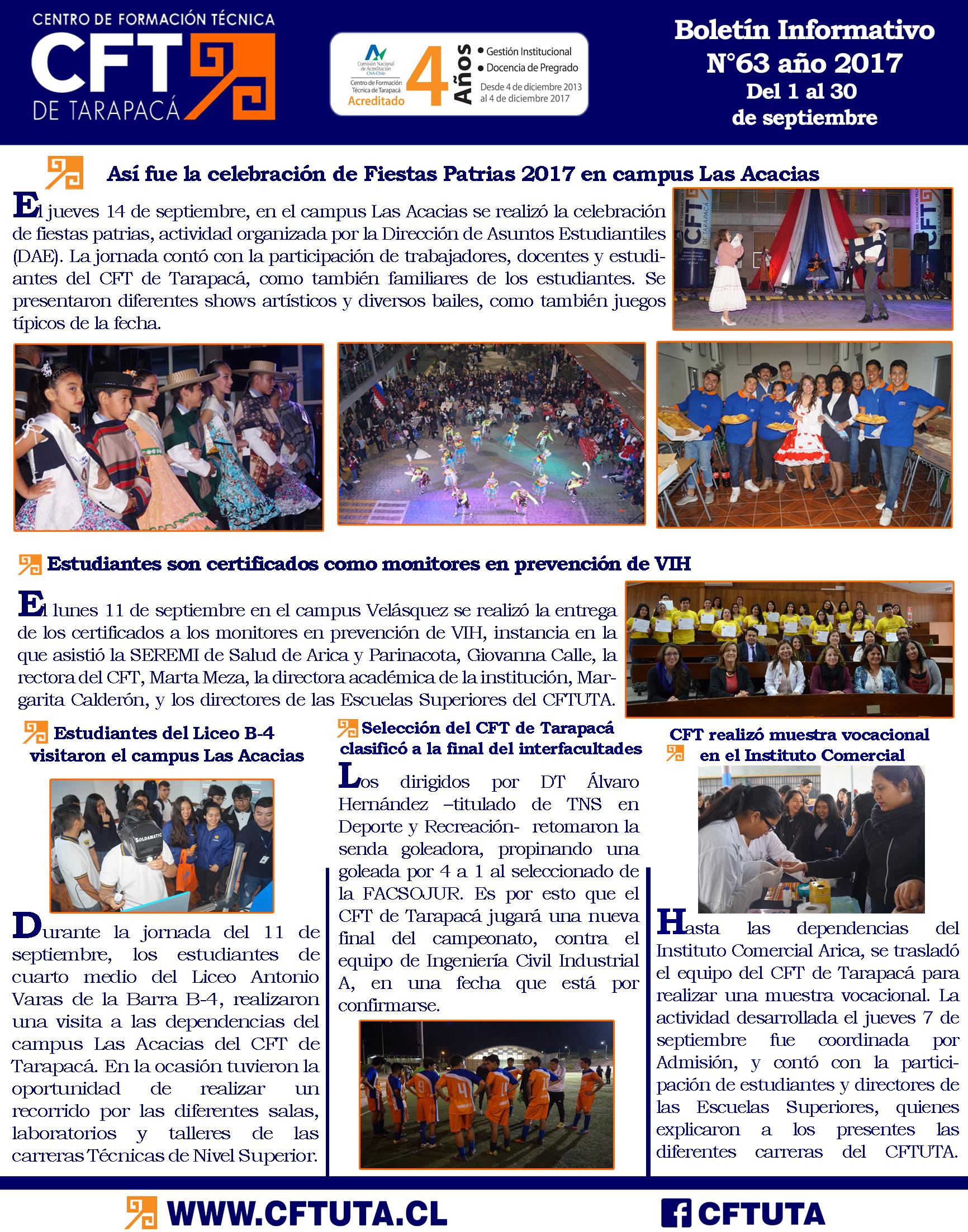 Boletín N°63 CFT de Tarapacá