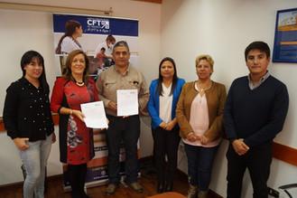 CFT y laboratorio Geocontrol firmaron convenio