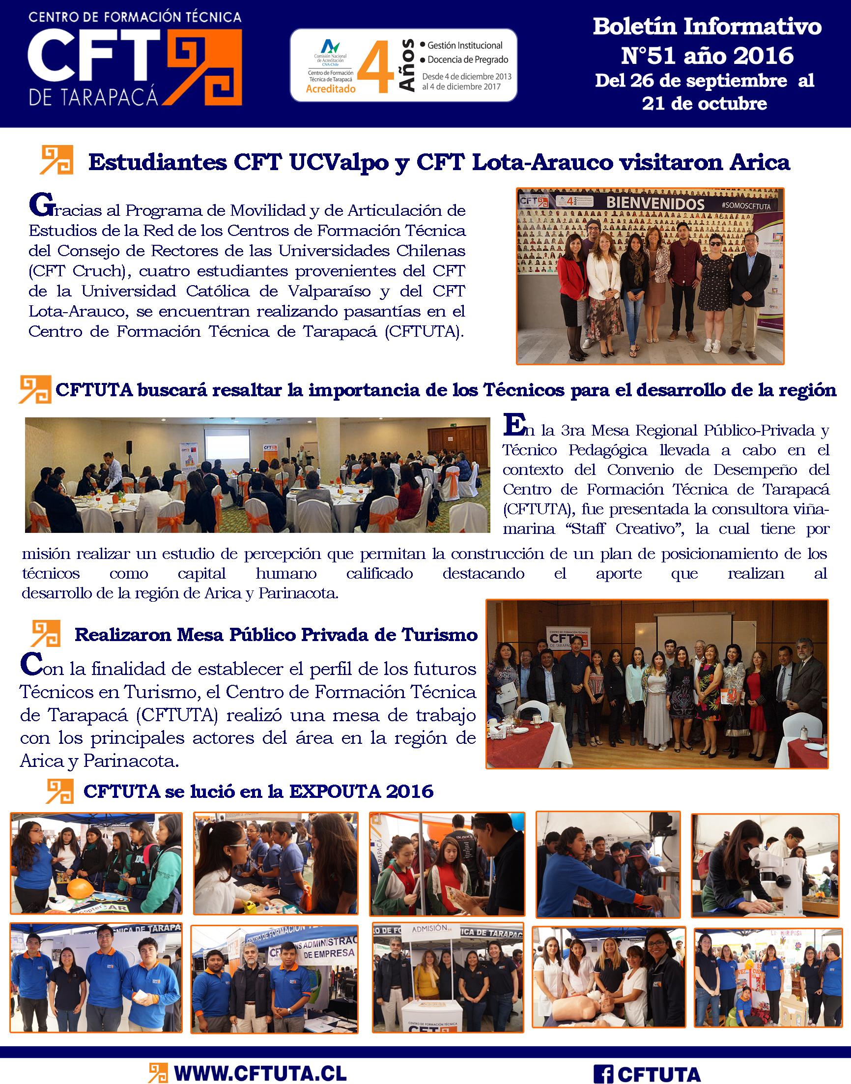 Boletín N°52 CFT de Tarapacá