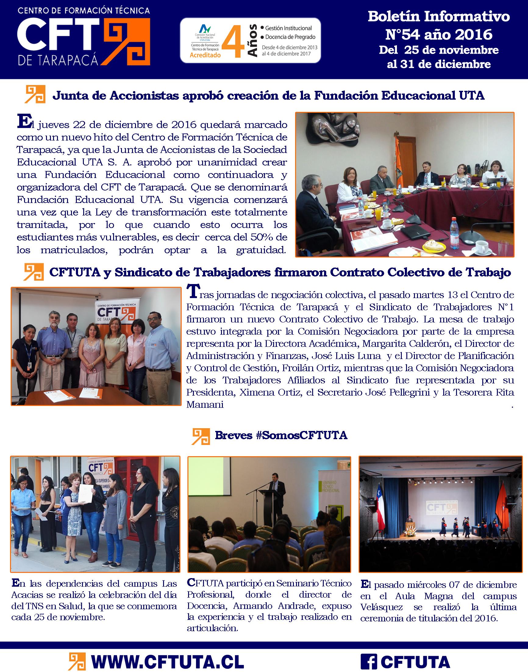 Boletín N°54 CFT de Tarapacá