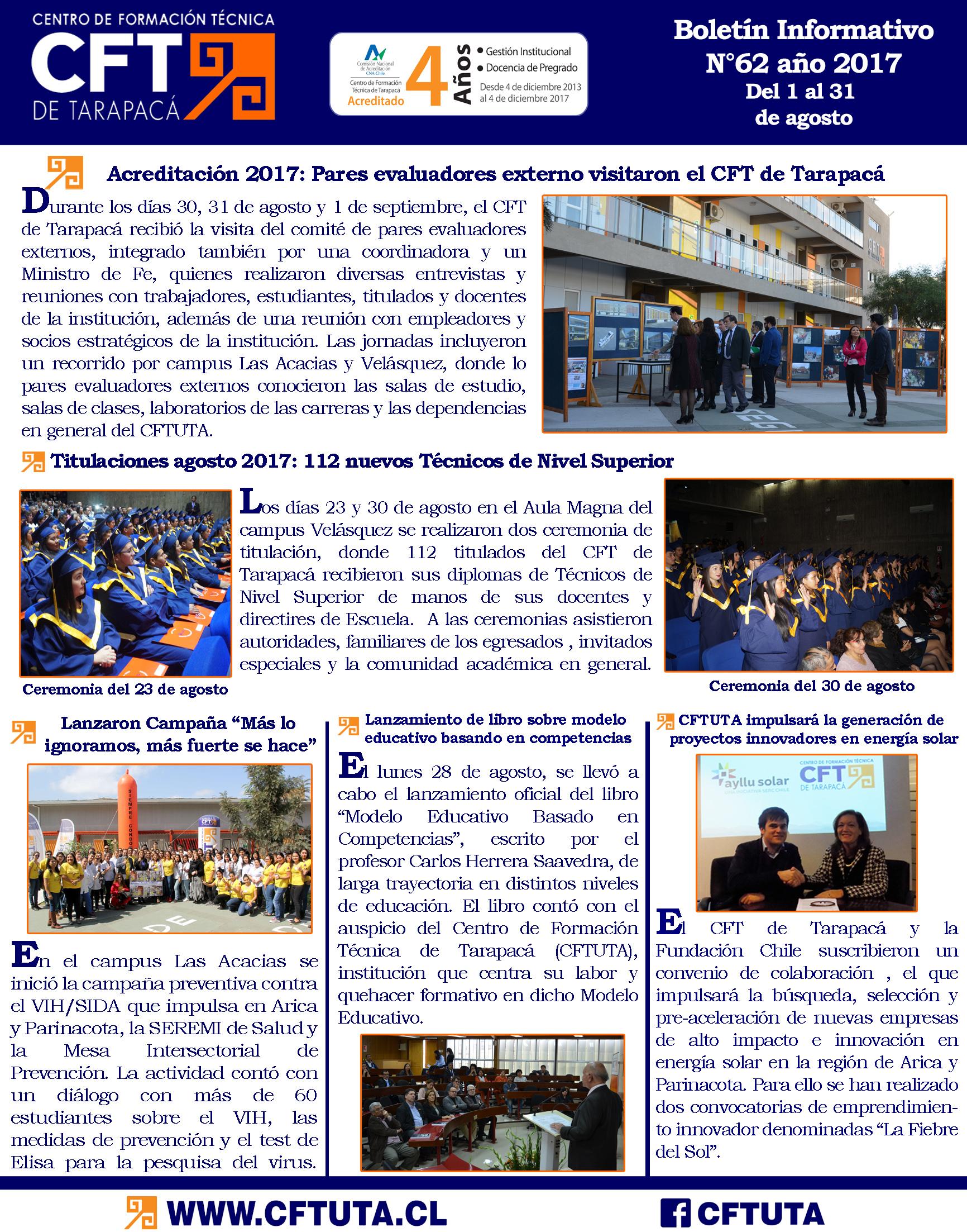 Boletín N°62 CFT de Tarapacá