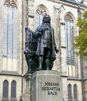 Bach monument stands since 1908 in front