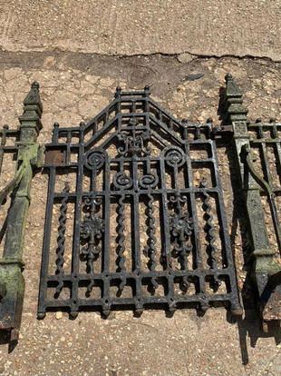ANTIQUE CAST IRON GATES
