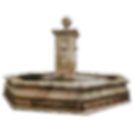 lions fontaine centrale octogonale pierre naturelle sculpte traditionnel provence octogonal fountain central fountain natural stone carved