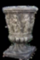 vase pierre moulage copie ancien sculpture antique antiquité ancien patine urn mould reconstituted stone patina weathering  copy ancient