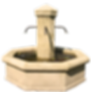 fontaine centrale octogonale pierre naturelle sculpte traditionnel provence octogonal fountain central fountain natural stone carved