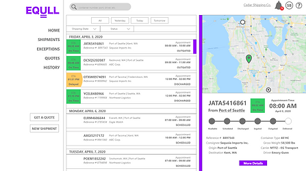 Version 1 Shipping Dashboard