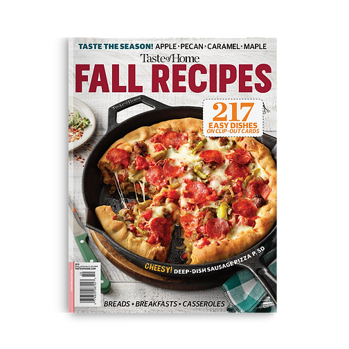 Taste of Home Fall Recipes 2019 cover