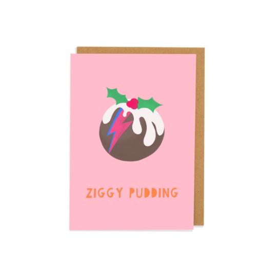 Ziggy Pudding Greetings Card
