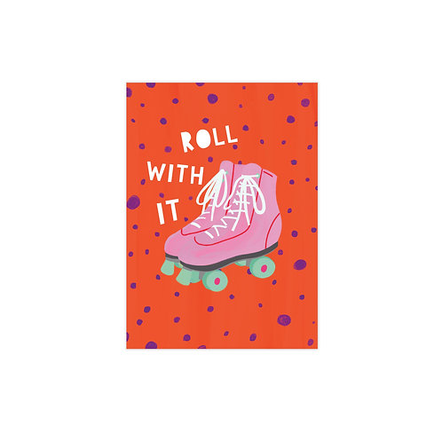 Roll With It Postcard