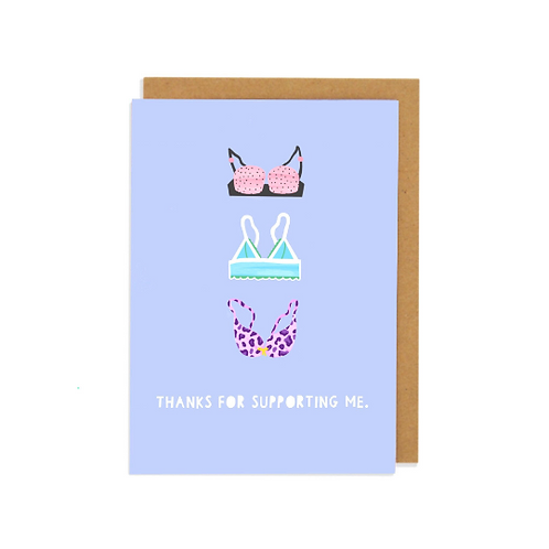 6 pack- Thanks for Supporting Me Greetings Card