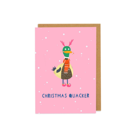 Christmas Quacker Greetings Card