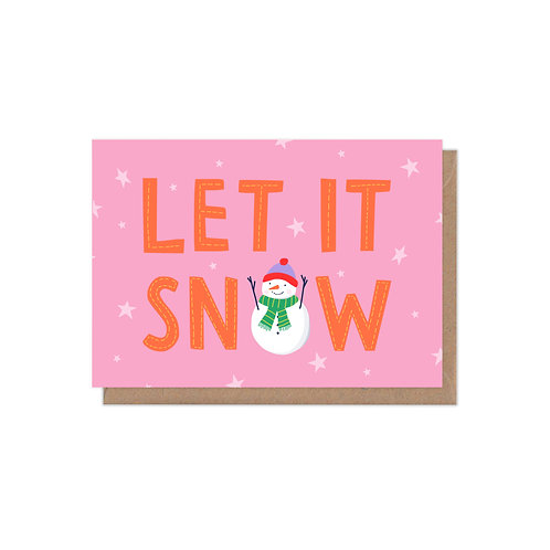 Let it Snow A6 Christmas Card