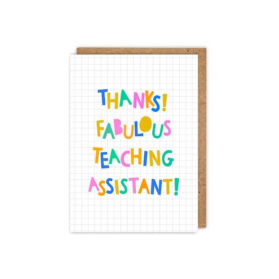 Thanks! Fabulous Teaching Assistant!