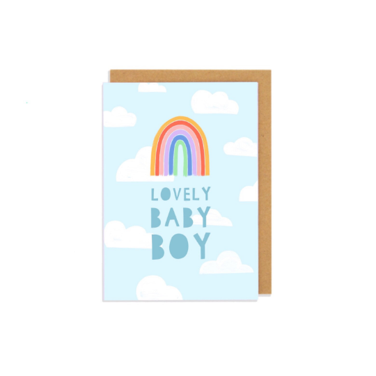 Lovely Baby Boy Greetings Card