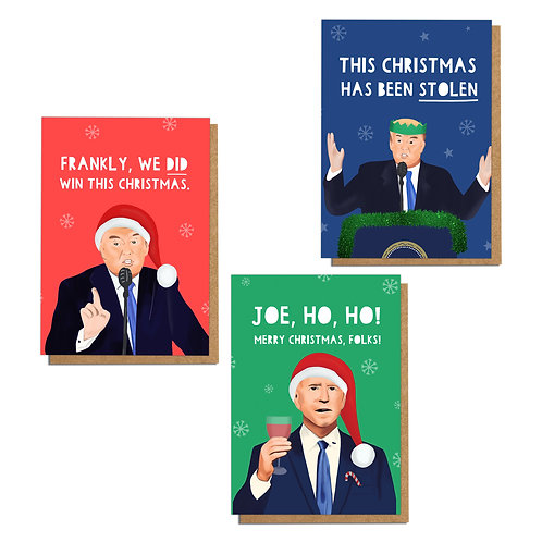 3 Pack USA Election A6 Christmas Cards