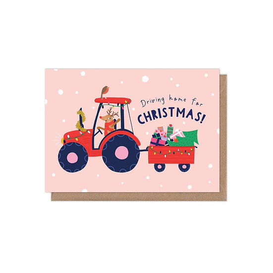Driving Home for Christmas A6 Greetings Card
