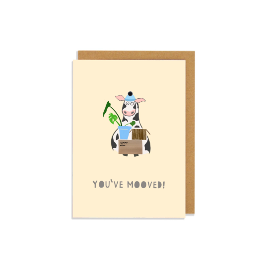 You've Mooved Greetings Card