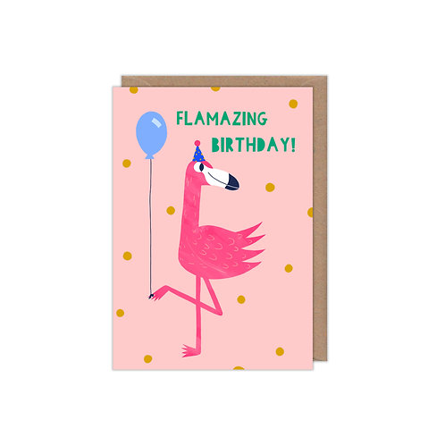 Flamazing Birthday Greetings Card