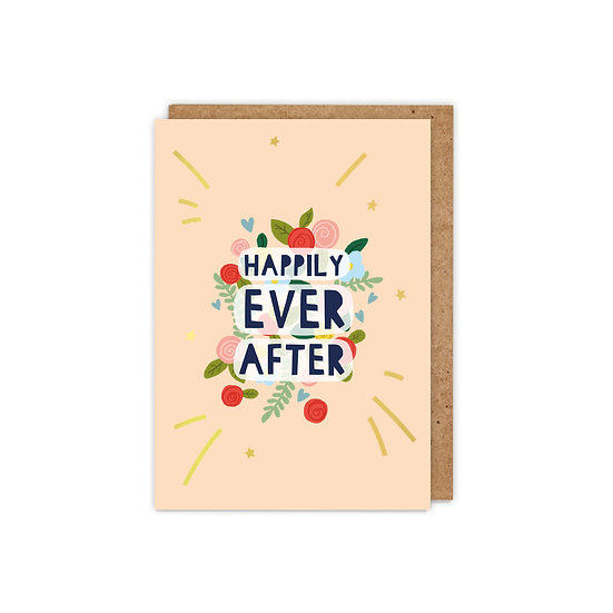 GOLD FOILED 'Happily Ever After'