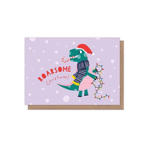 Roarsome Christmas A6 Christmas Card