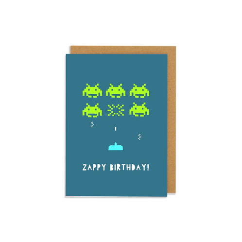 6 pack-  Zappy Birthday Greetings Card