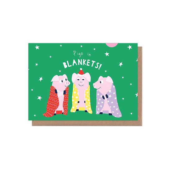 Pigs in Blankets A6 Greetings Card