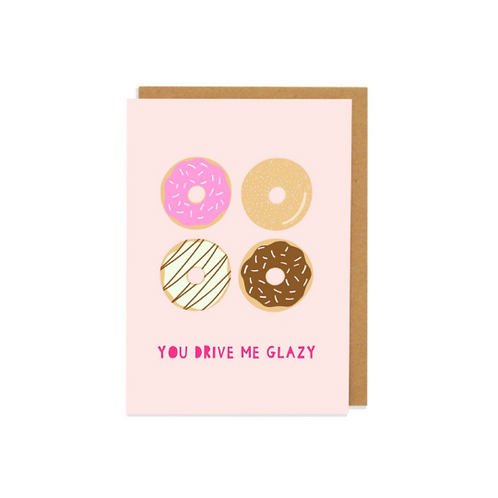 6 pack- You Drive Me Glazy Greetings Cards